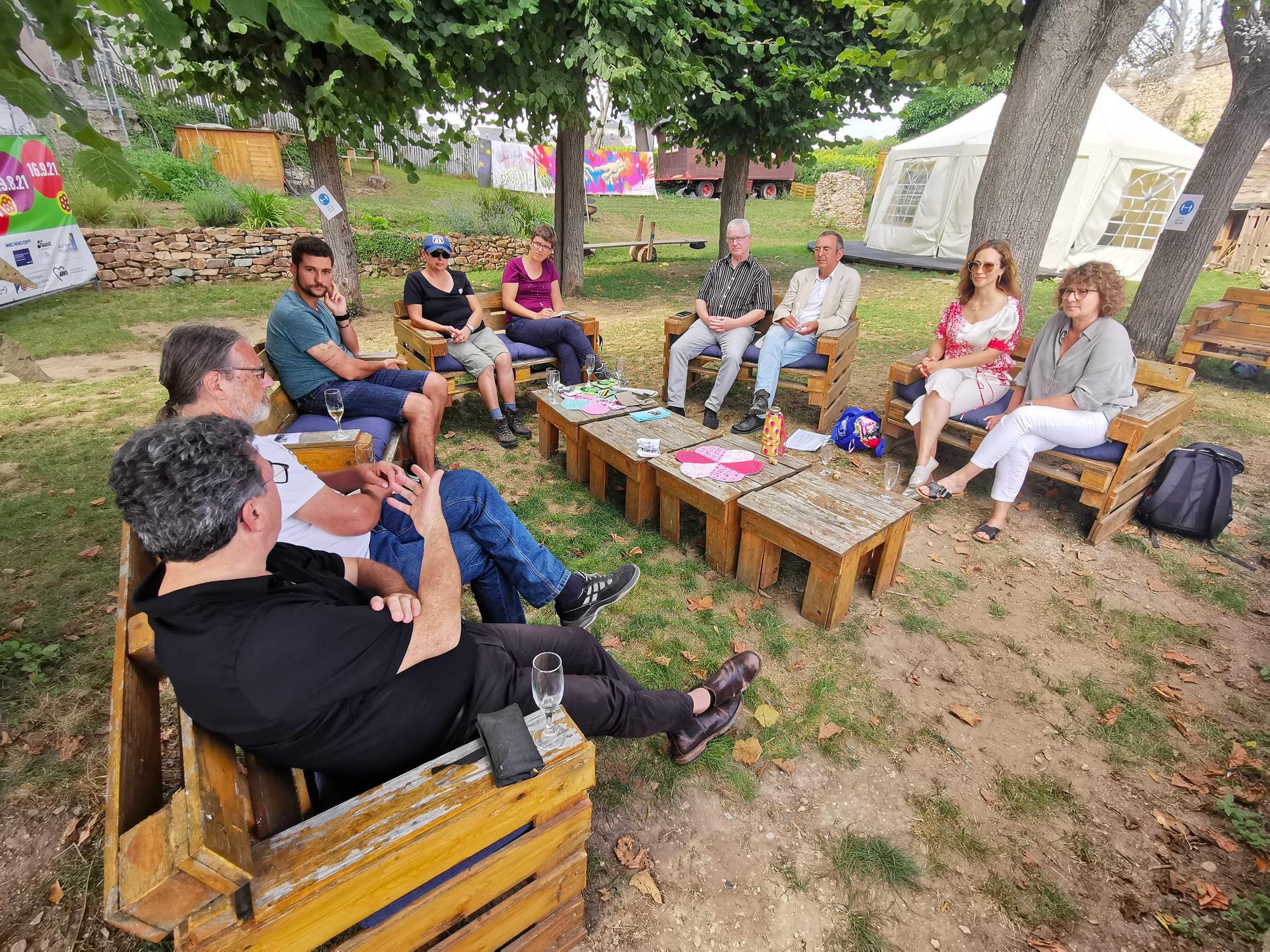 Zu Gast bei der Philip-Kraft-Stiftung im Jugendpark der Kulturen